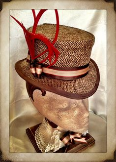 Ladies John Bull Tweed Hat Topper Top Hat by ClockworkCouture
