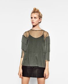 ZARA - SALE - FRILLED TULLE TOP