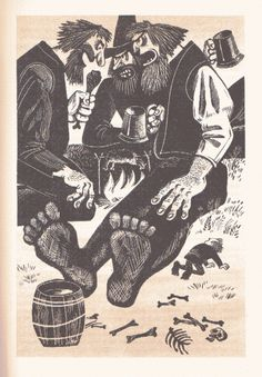 JRR Tolkien's The Hobbit was published in the USSR in 1976, with illustrations by M. Belomlinskij.