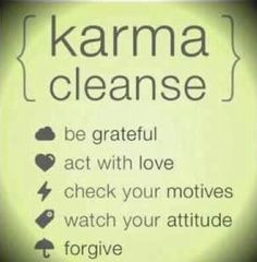 Karma cleanse posted by Dr. Frank Lipman on fb :)