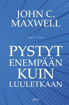 John Maxwell on sitä mieltä, että useimmat pystyvät enempään kuin luulevatkaan! Usein keskitymme enemmän rajoituksiin kuin siihen, mikä oikeasti on mahdollista. Annamme rajoitustemme määritellä, keitä olemme ja mihin pystymme.  Maxwell antaa selkeitä, käytännöllisiä neuvoja siitä, kuinka voimme kasvattaa kapasiteettiamme kaikilla elämänalueilla. John Maxwell, Calm