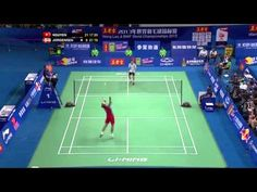 The longest rally in badminton World Badminton Championships 2013 Canton - YouTube