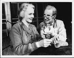"""Jessica Tandy (Best Actress) and Hume Cronyn (Nominee for Best Actor) in """"The Gin Game,"""" 1978 - Blackstone Theatre - Chicago Best Actress, Best Actor, Jessica Tandy, Theater Chicago, Musical Theatre Broadway, Great Films, Gin, Actors & Actresses, Chill"""
