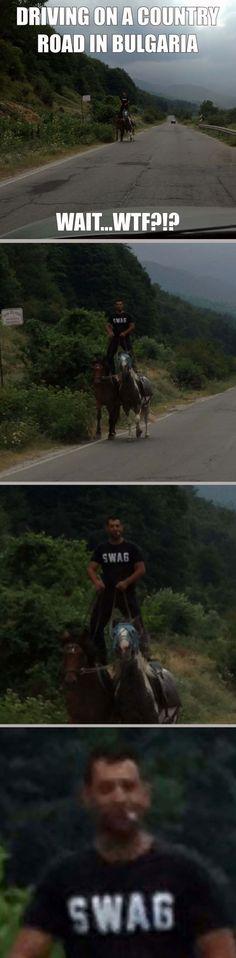 Währenddessen auf einer Landstraße in Bulgarien