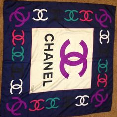 "Vintage Chanel scarf 33"" x 33"" Vintage Authentic Chanel silk scarf made and purchased in Italy. CHANEL Accessories Scarves & Wraps"