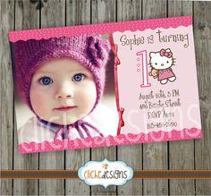 Hello Kitty DIY Birthday Invitation  Custom by Clicheprintables, $14.00