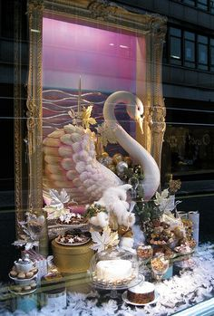 Cakes & Feathers, via Flickr.  Christmas window display: Fortnum and  Mason, Piccadilly, London. November 2009
