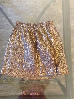 J. crew Gold Sequin Skirt