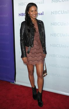 """The style """"Joy Bryant arrives to the NBC Universal 2012 Winter TCA Tour All-Star Party on January 2012 in Pasadena"""" has been viewed 211 times. Black Celebrities, Celebs, Joy Bryant, Christina Milian, Star Party, Celebrity Style, Autumn Fashion, Feminine, Hollywood"""