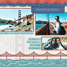 There are so many ways you can use the Scenic Route collection to create layouts full of spirited wanderlust and the pride of the stars and stripes. Check out this USA-themed scrapbook layout and see how you can capture every mile on every page! Creative Memories, Scrapbook Layout Sketches, Scrapbooking Layouts, Vacation Scrapbook, Travel Scrapbook Pages, Baby Scrapbook, Travel Themes, Travel Ideas, Scrapbook Supplies