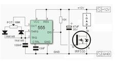 Picture of Circuit diagram NE555 PWM led dimmer