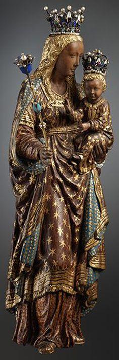 Statuette d'une vierge noire. Cathédrale Saints Michel et Gudule, Bruxelles
