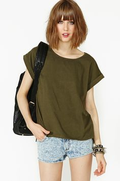 On The Loose Tee in Olive