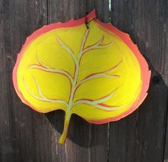 FUN fall leaves!  Outdoor Decor Patio Fence Autumn Leaves in fun by greenchicliz, $17.00