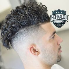 Curly Pompadour with disconnected Undercut