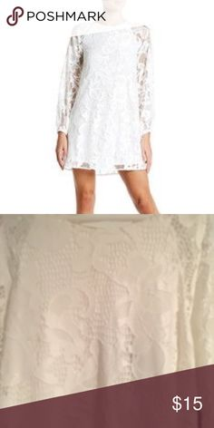 55f68613b6c1 white lace shift dress NEW brand new w tags!!! NEVER WORN!! Nordstrom ...