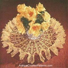 Crochet Doily - Star Spangled Ruffled Doily
