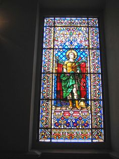 Caracas. St sebastian window  Window depicting St. Sebastian, Santa Capilla, Caracas, Venezuela