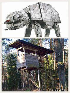 AT-AT hiden in wood