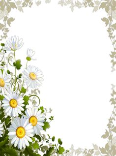 Transparent Frame with Daisies​ | Gallery Yopriceville - High-Quality Images and Transparent PNG Free Clipart