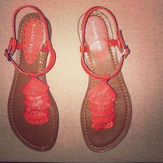 Gianni Bini sandals, size 6.5 Gianni Bini sandals, size 6.5, Orange, EUC, only worn a few times Gianni Bini Shoes Sandals