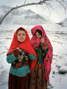 watanafghanistan:  Wakhis outside in Sarhad, the first village coming down from the Little Pamir. .Winter expedition through the Wakhan Corridor and into the Afghan Pamir mountains, to document the life of the Afghan Kyrgyz tribe. January/February 2008. Afghanistan