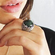 Twin Fern Ring with Pounamu – Nick Von K Silver Fern, Ferns, Gemstone Rings, Fashion Jewelry, Gemstones, Sterling Silver, Twin, Trendy Fashion Jewelry, Gems