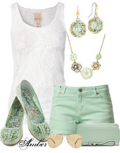"""""""Summer Mint !"""" by stay-at-home-mom on Polyvore"""