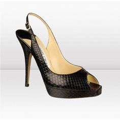 Jimmy Choo Clue glossy Elaphe snake platform sandals