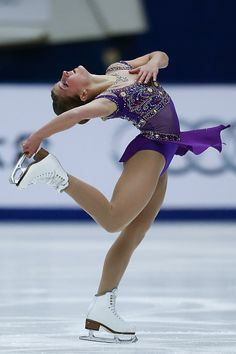 Miller Hannah of United States perform during the Ladies Short Program on day one of Audi Cup of China ISU Grand Prix of Figure Skating 2015 at...