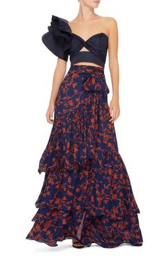 Get inspired and discover Johanna Ortiz trunkshow! Shop the latest Johanna Ortiz collection at Moda Operandi. 70s Fashion, Look Fashion, Skirt Fashion, High Fashion, Fashion Dresses, Womens Fashion, Korean Fashion, Fashion Tips, Skirt Outfits