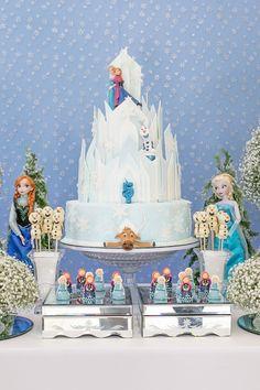 Festa Infantil | Frozen Elegante | Vestida de Mãe | Blog sobre Gravidez, Maternidade e Bebês por Fernanda Floret