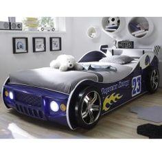 Detská posteľ Energy cm, modrá pretekárska s osvetlením Thing 1, Beautiful World, Car, Products, Autos, Silver, Child Bed, New Homes, Searching