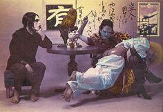 shūji terayama, taken from photothèque imaginaire de shūji terayama: les gens de la famille chien-dieu, 1975.