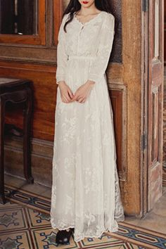 White Embroidered Tulle Fairy Dress