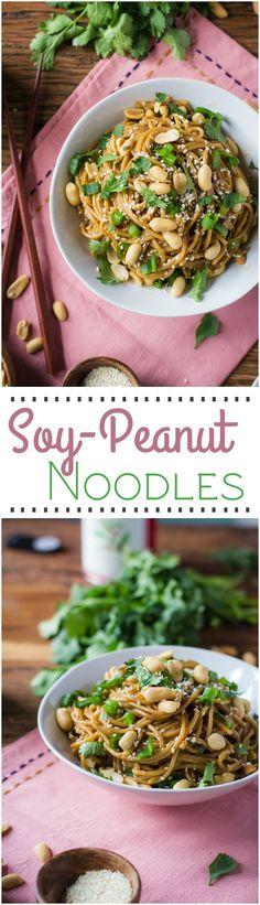 soy peanut noodles long