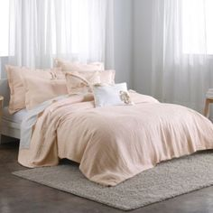 DKNYpure Pure Indulge Duvet Cover in Pale Pink - BedBathandBeyond.com