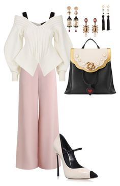 """""""Pink & Sophisticated!!!"""" by la-harrell-styling-co on Polyvore featuring Zimmermann, Burberry, Casadei, Gucci, Of Rare Origin, Kenneth Jay Lane and Oscar de la Renta"""