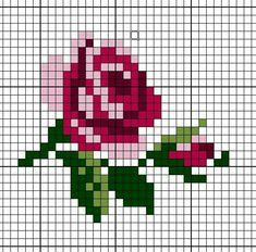 New Embroidery Rose Pattern Design Cross Stitch Ideas Mini Cross Stitch, Cross Stitch Cards, Simple Cross Stitch, Cross Stitching, Rose Embroidery, Cross Stitch Embroidery, Embroidery Designs, Cross Stitch Designs, Cross Stitch Patterns