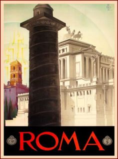 Roma-Rome-Italy-Italian-Europe-Vintage-Travel-Advertisement-Art-Poster-Print