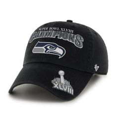 1a10b4d07c7 Seattle Seahawks 2014 Super Bowl XLVIII Champions Adjustable Hat by  47  Brand