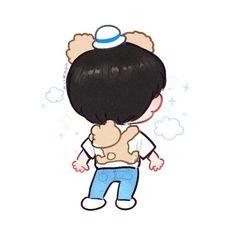Cre: the owner/as logo Exo Cartoon, Cartoon Art, Kai Arts, Exo Fan Art, Kaisoo, Kim Jong In, Exo Kai, Cute Art, Amazing Art