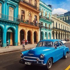 """Editor's Picks: """"Ever since the United States restored diplomatic relations with #Cuba #Havana has been on the cusp of irreversible change and Im itching to experience it before the time capsule bursts. I imagine Havana surrounded by colorful colonial glory and being irresistibly seductive with its vintage American cars street side salsas and strong mojitos."""" -Rachel Bale (@departmentofwandering)  View our travel editors' top #wanderlust destinations for 2016 by clicking the link in our bio…"""