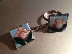 Mosaic Ring and Hair Pin Set - 01
