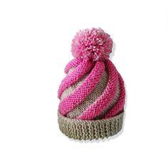 Baby swirl hat Knitting pattern Instant by DeborahGraceDesigns