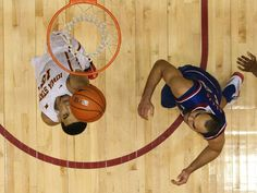 Naz Long skies to the hoop as Kansas player, Perry