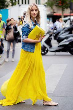 Как носить длинные платья этой осенью 8