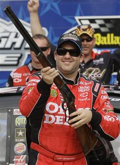 No Tony, you can't bring the gun to press conferences.-- NRA to Sponsor NASCAR's April Race at Texas Motor Speedway: NRA500   DCXposed