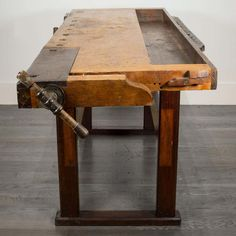 For Sale on - About This is an original American carpenter's workbench from the The work surface is made from beech and maple, and it measures W x D French Bench, Victorian Paintings, French Industrial, Tool Bench, Rustic Desk, Old Tools, Woodworking Workbench, Work Surface, Cabinet Makers