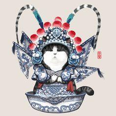 查看《吾皇万睡碗碗碎!》原图,原图尺寸:800x800 Cute Illustration, Character Illustration, Graphic Design Illustration, Kawaii Faces, Kawaii Chibi, Japanese Tattoo Art, Japanese Art, Snuggles, Watercolor Painting Techniques